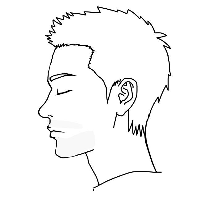 デザインヒゲ脱毛-全体的に薄く脱毛